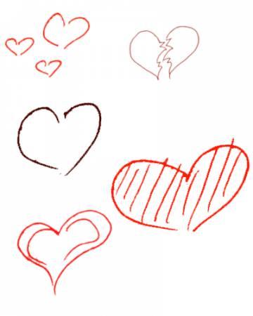 Красивое фото нарисованные сердечка