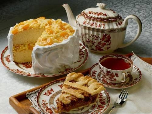 Торт с чаем