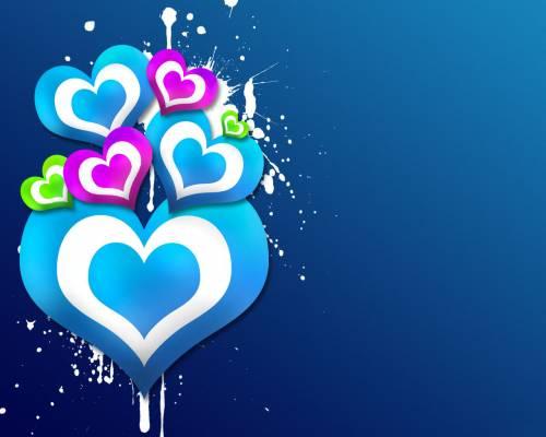 Красивое фото пятна сердец